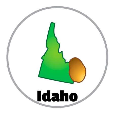 idaho: Idaho state map