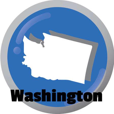 washington state: Washington state map Illustration
