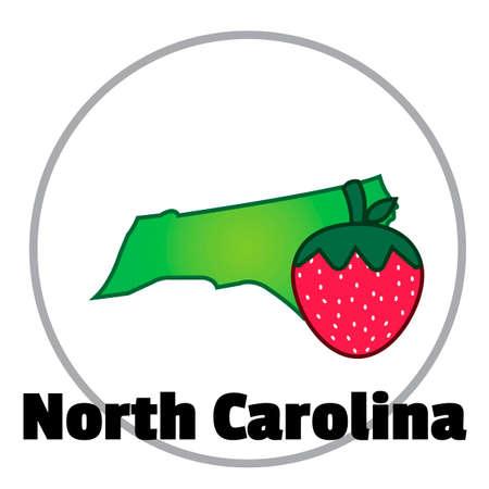 the north: North carolina state map Illustration