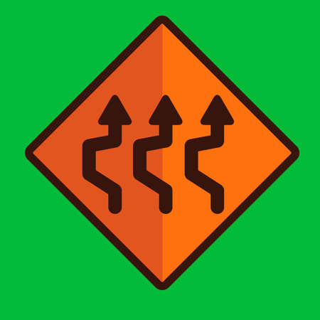 reverse: Triple reverse curve sign