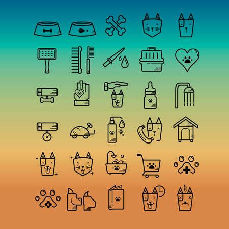 nursing bottle: Pet icon set