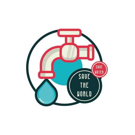 watertap: Savewatersavetheworldicon Illustration