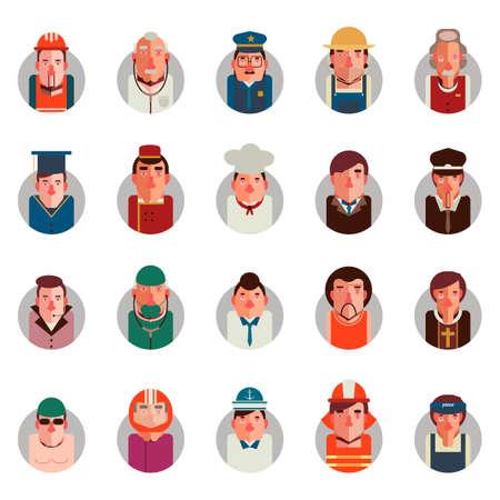 medical headwear: Collectionofpeopleandoccupation Illustration