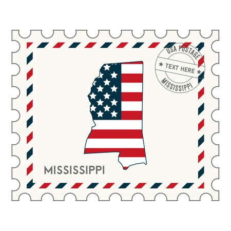 perforated stamp: Mississippi postage stamp