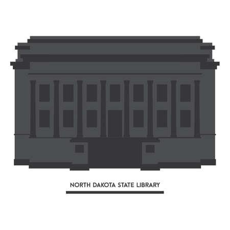 north dakota: North dakota state library Illustration