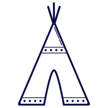 teepee: Native american teepee Illustration
