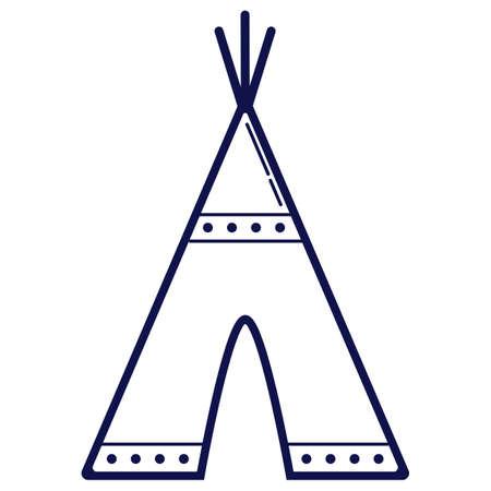 Native american teepee Illustration