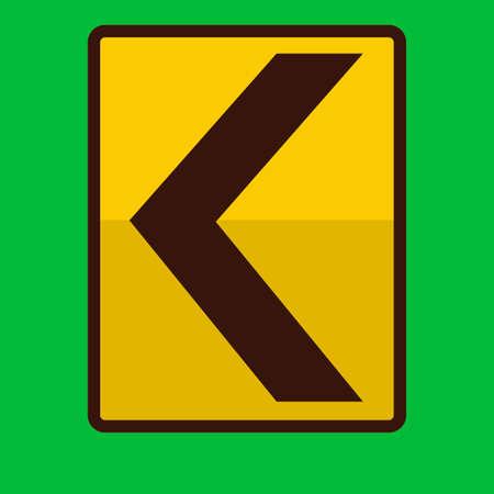 znak drogowy: Left chevron road sign Ilustracja