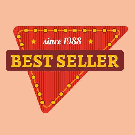 best seller: Bestseller Label Illustration