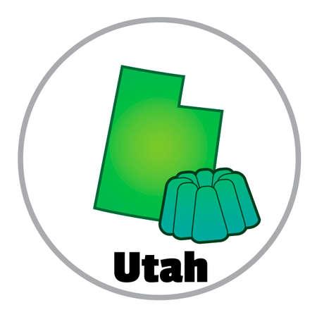 gelatina: Utah state map