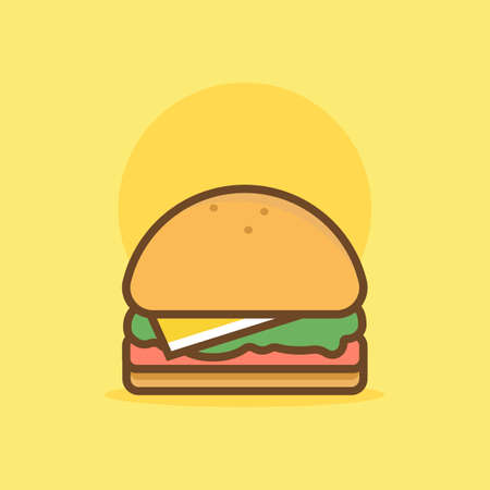 patty: Burger Illustration