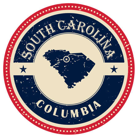 south carolina: Stamp of South Carolina state