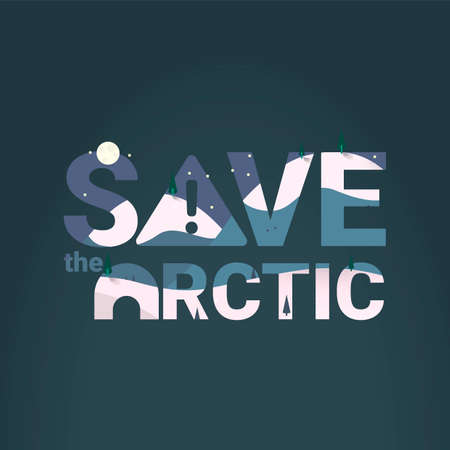 exclamatory: Save the arctic with double exposure effect