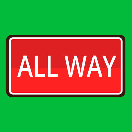 in a way: All way road sign