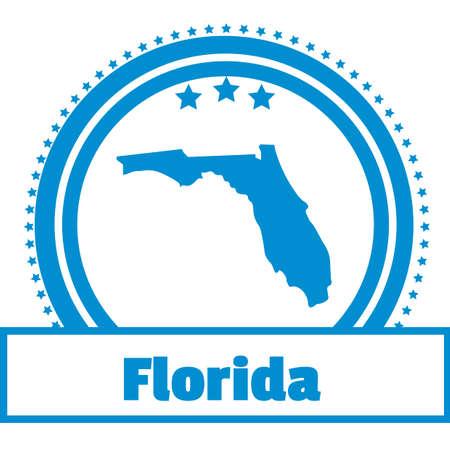florida state: Florida state map label Illustration