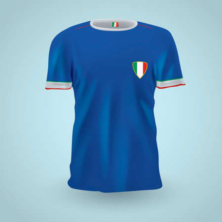 jersey: Italy soccer jersey Illustration