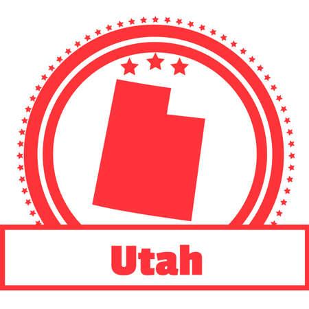 utah: Utah state map label Illustration