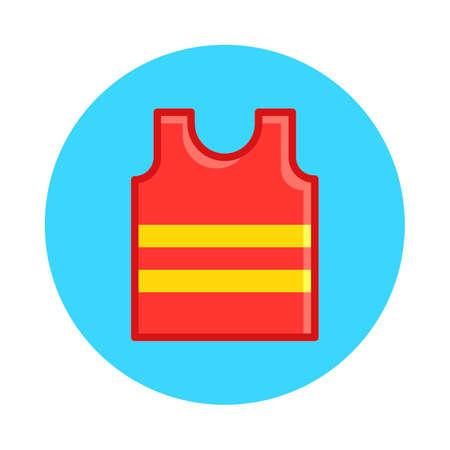 sleeveless: Sleeveless jersey Illustration