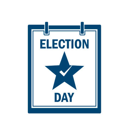 election day: Calendar showing election day Illustration