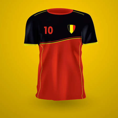 jersey: Belgium soccer jersey