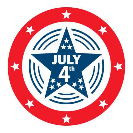 july 4th: July 4th label Illustration