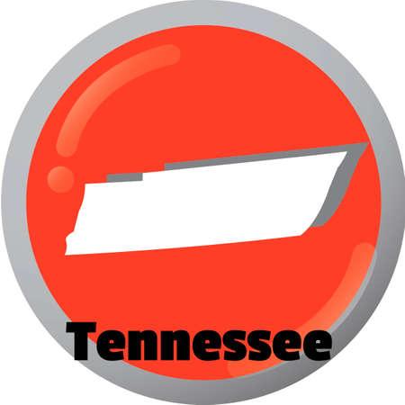 tennesse: Tennessee el mapa del Estado Vectores
