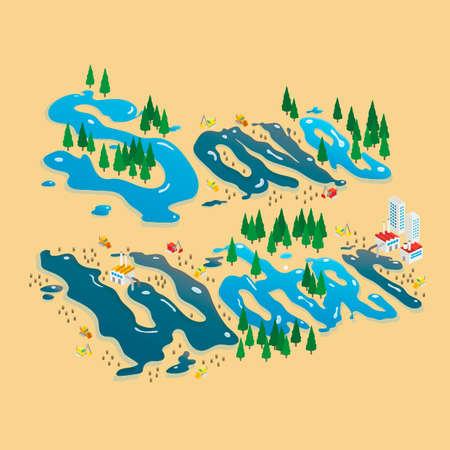 ahorrar agua: Ahorre el dise�o del agua Vectores