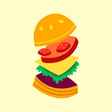 binge: Burger Illustration