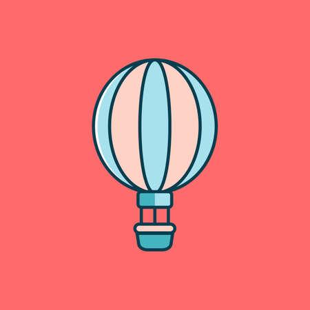 ballooning: Hot air balloon Illustration