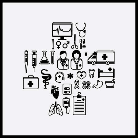 health icons: Collection of health icons Illustration