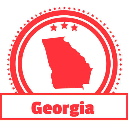 georgia: Georgia state map label