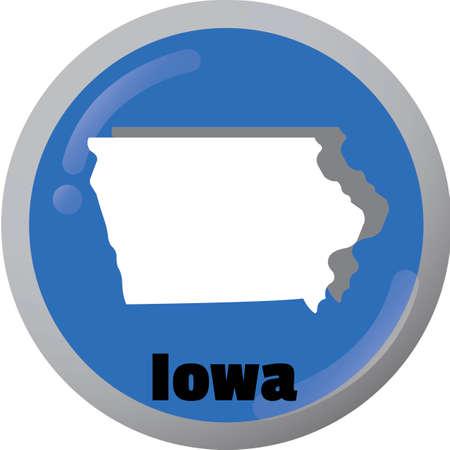 iowa: Iowa state map