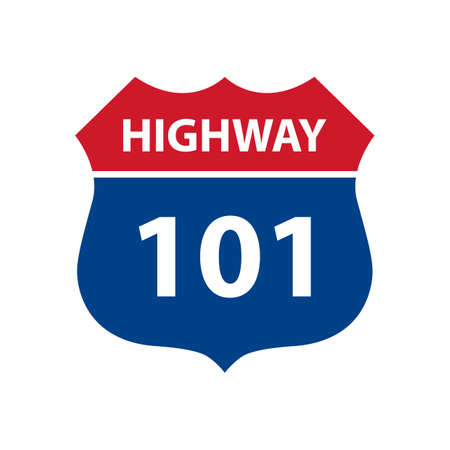 highway sign: Route 101 highway road sign