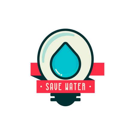 ahorrar agua: Save water icon