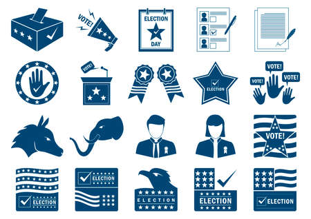 republican party: Collection of USA election designs