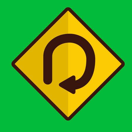 bucle: Grado señal de tráfico de bucle Vectores