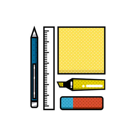 office supply: Stationery supplies Illustration
