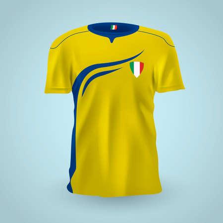 jersey: Italy soccer jersey Illustration