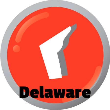 delaware: Delaware state map