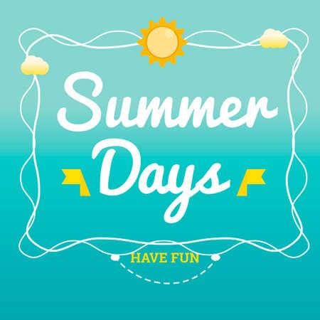 days: Summer days design