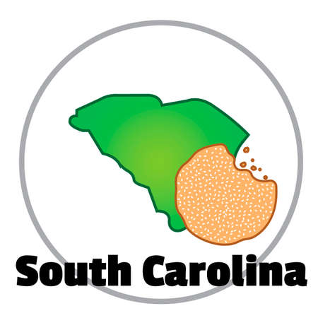 south carolina: South carolina state map