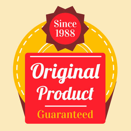 Original product guaranteed label