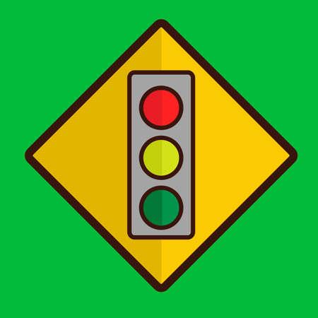 traffic signal: De signalisation routi�re Illustration