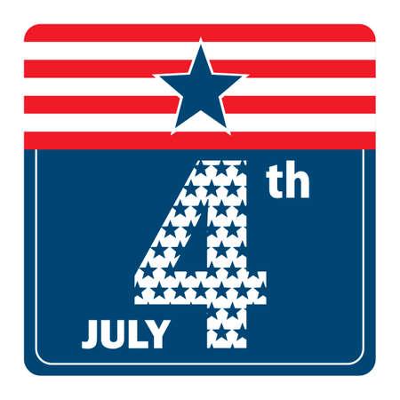 july 4th: July 4th design Illustration