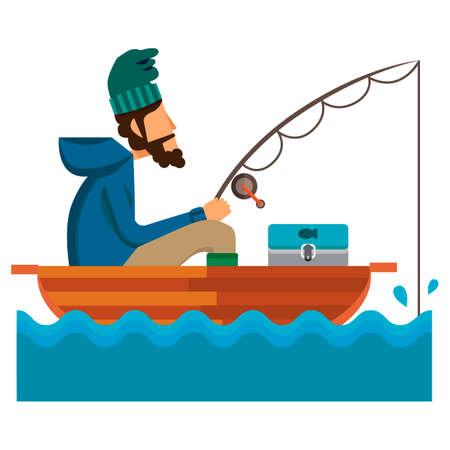 tackle box: Man fishing