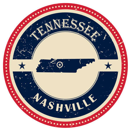 nashville: Stamp of Tennessee state