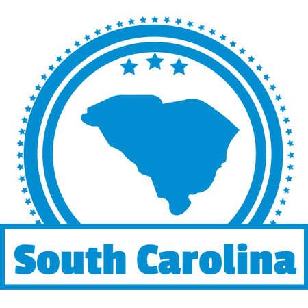 carolina: South carolina state map label