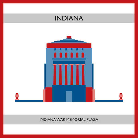 indiana: Indiana war memorial plaza Illustration