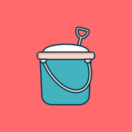 bucket and spade: Sand bucket with spade