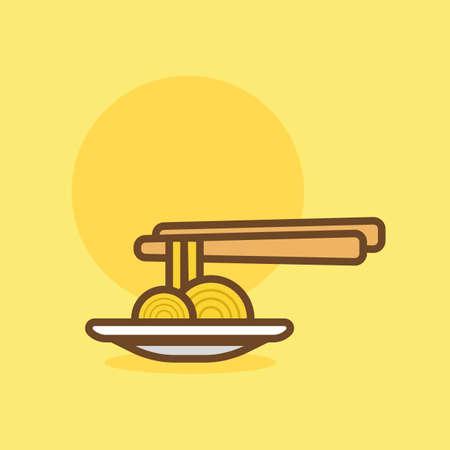 plate: Plate of spaghetti Illustration